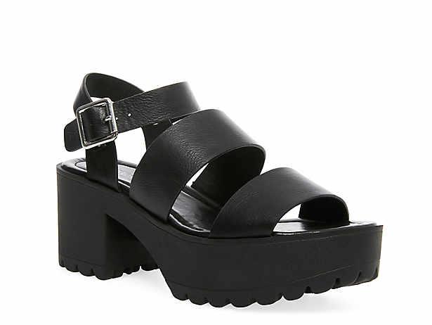 Women's Black Platform Sandals   DSW