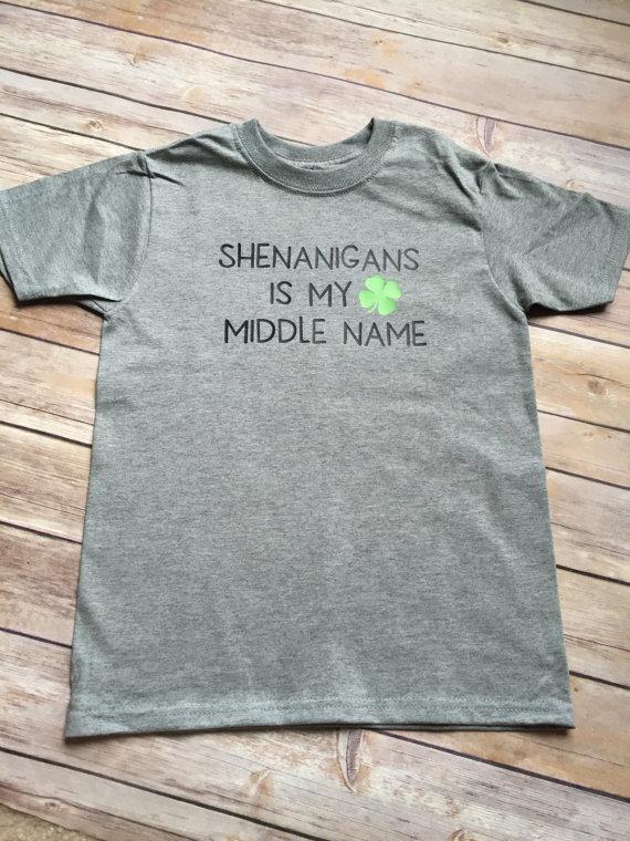 21ceecf6 Boys St. Patricks Day Shirt | Toddler infant boy St. Patrick's Day shirt |  Shenanigans is my middle