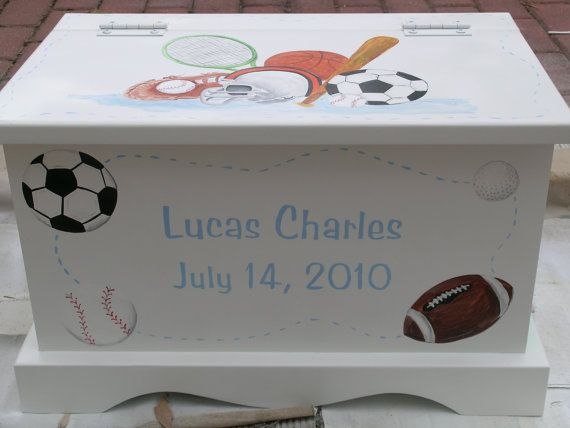 Sports theme keepsake chest memory box by staciedale on etsy sports theme keepsake chest memory box by staciedale on etsy 25500 baby keepsake boxesbaby boy giftsmemories boxsewing boxpersonalised negle Gallery