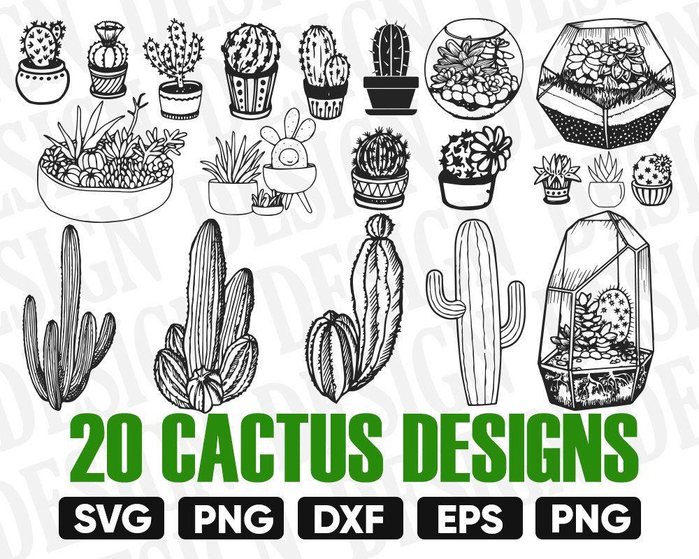 Cactus Svg Bundle Cactus Clipart Cactus Silhouette Cactus Etsy Clip Art Cactus Clipart Cactus Silhouette