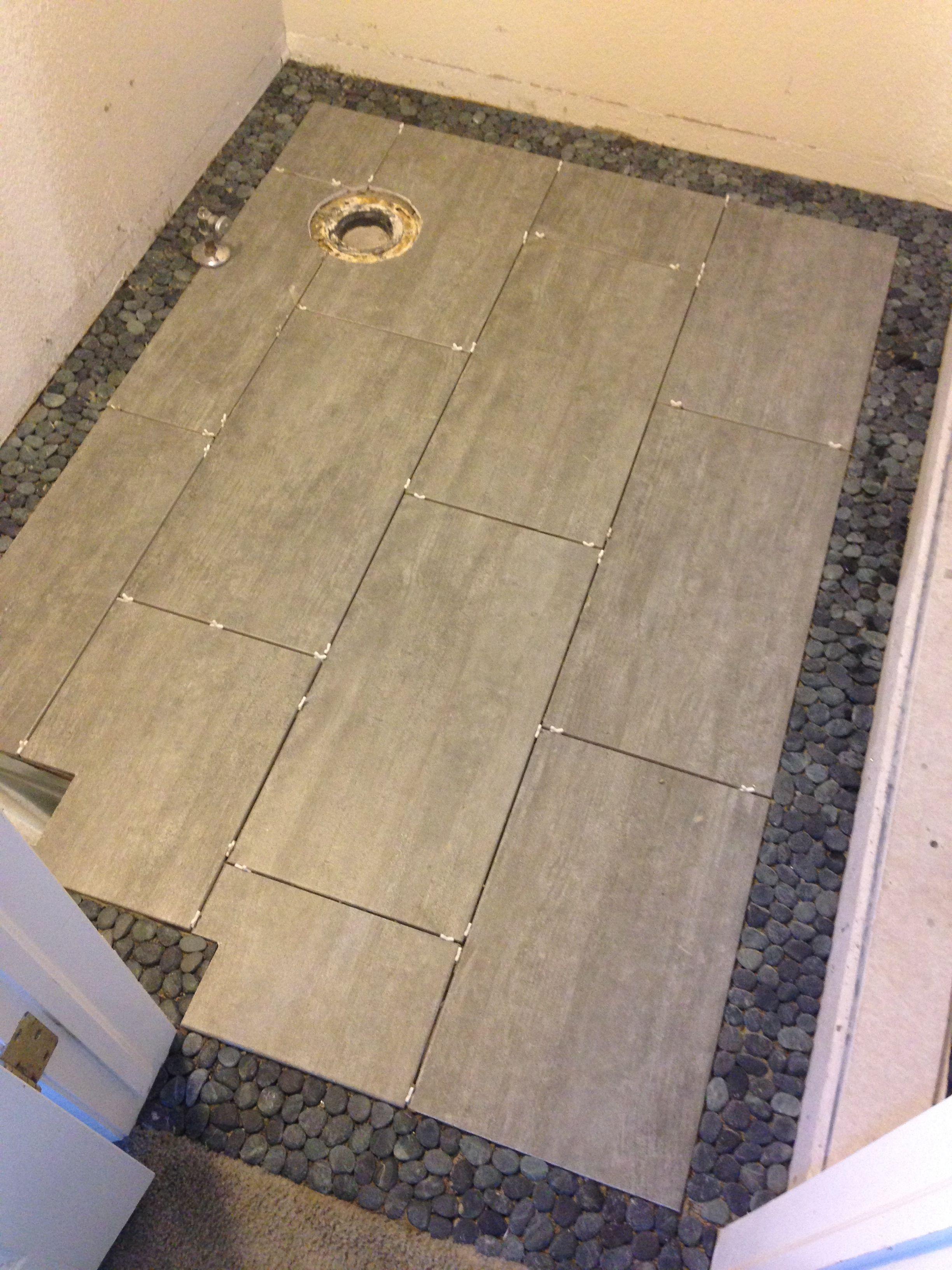 Floor Tile In The Master Bathroom