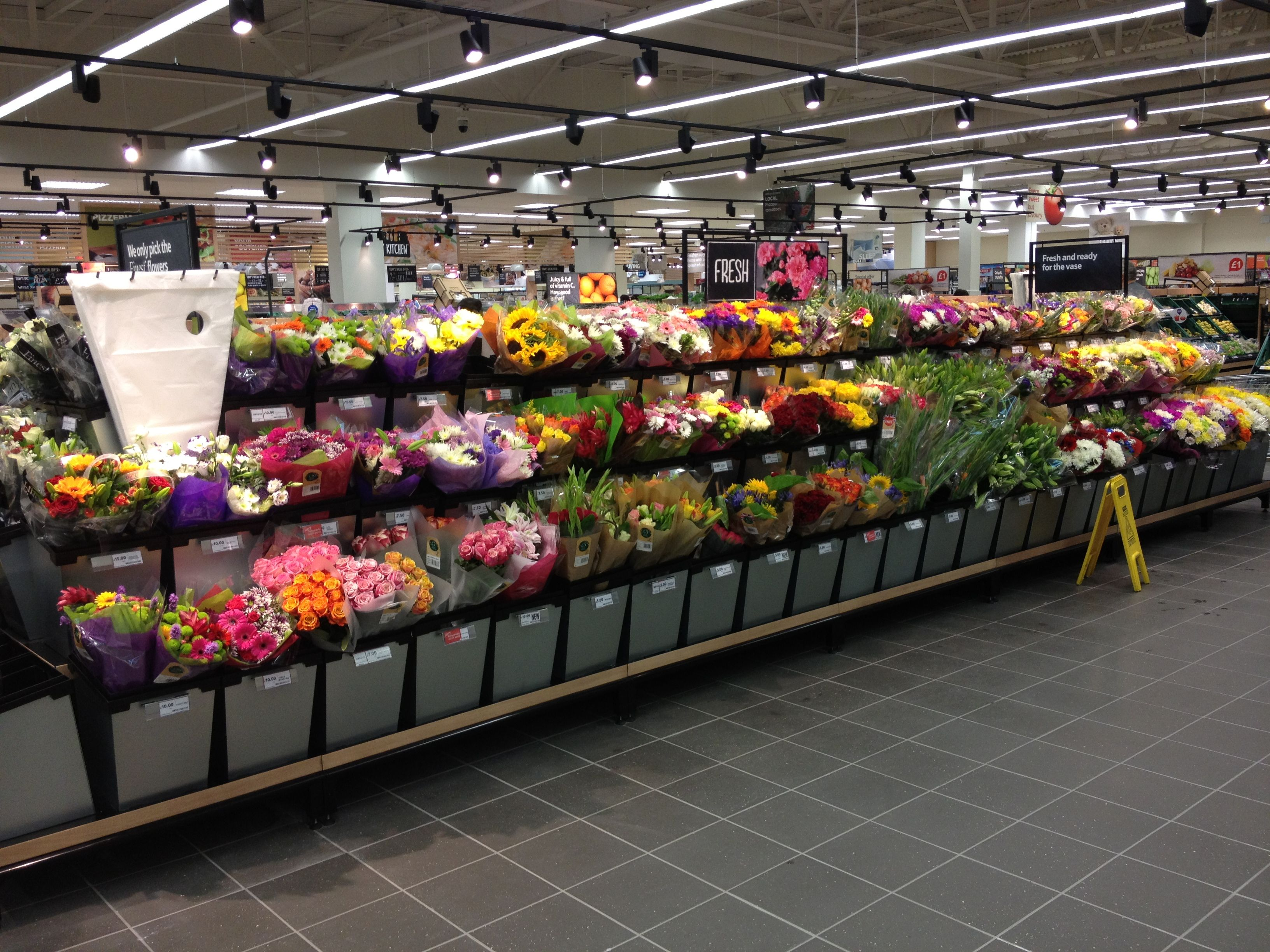 Flower display shown at Tesco | Horticulture & Flowers | Pinterest ...