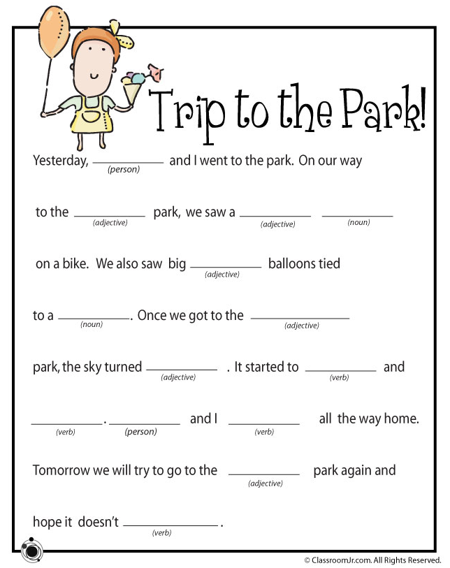 image about Mad Libs for Kids Printable named ridiculous libs uncomplicated printable - Google Seem SEPTEMBER Nuts