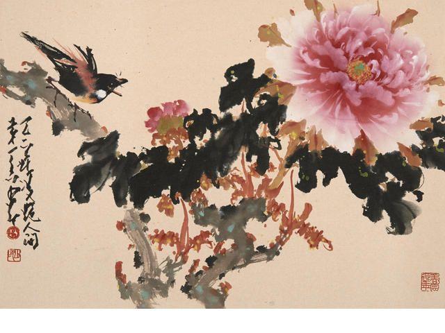 Peony and bird-Zhao Shao Ang