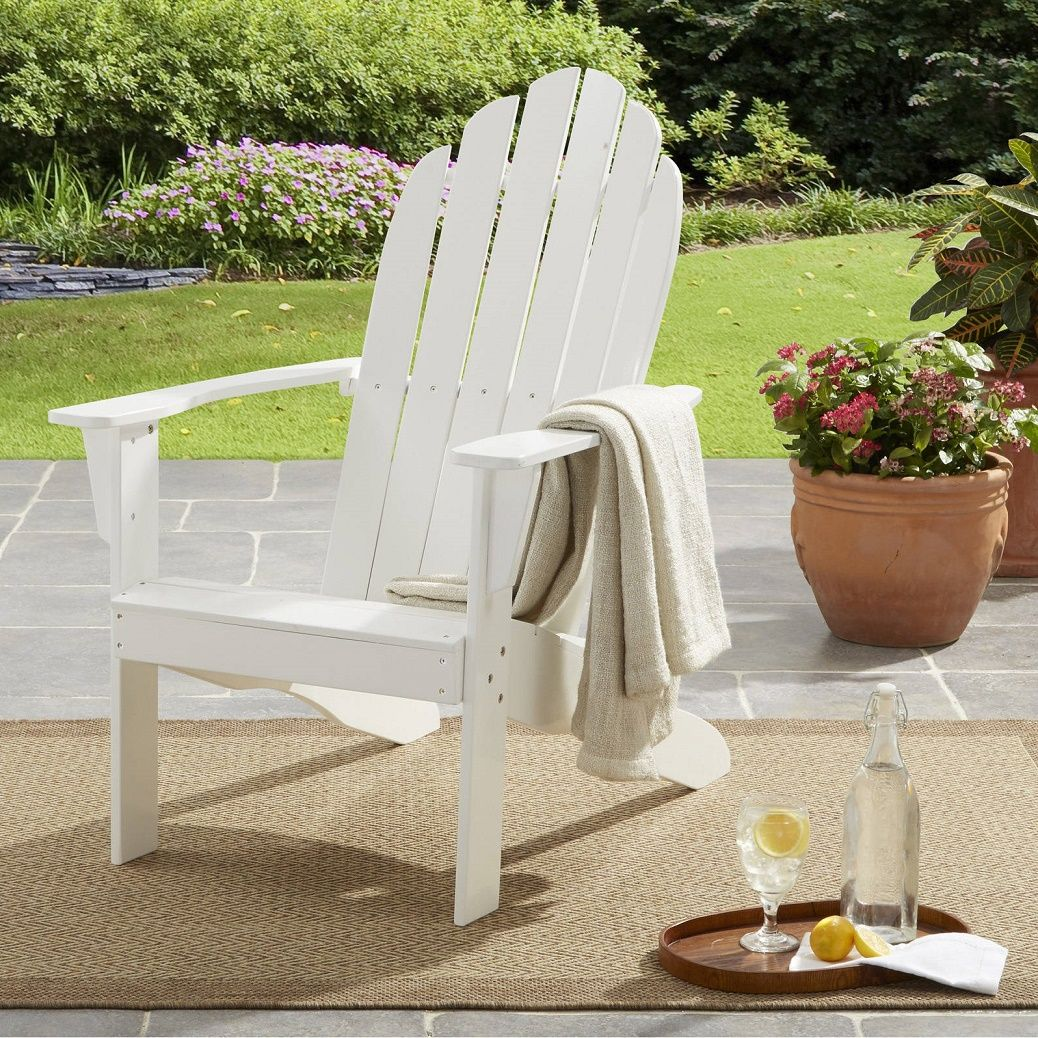 Mainstays Adirondack Chair Deck Furniture Outside Patio