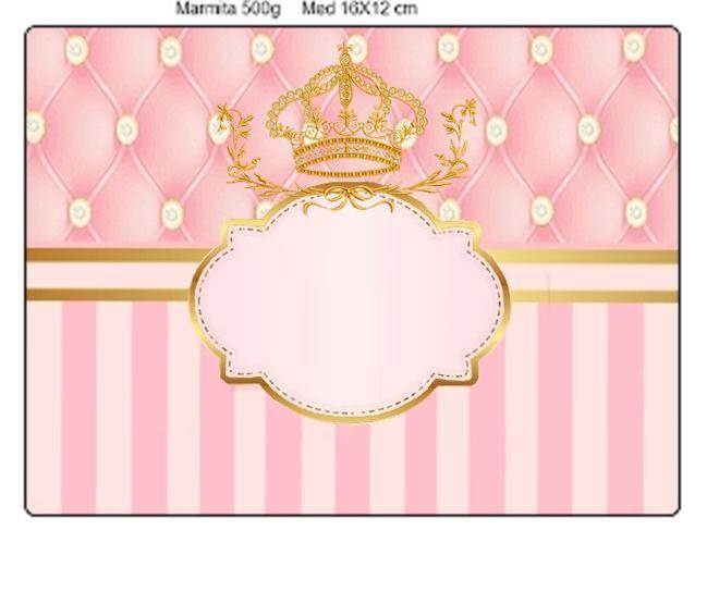 kit digital para festa infantil tema realeza cores rosa ...