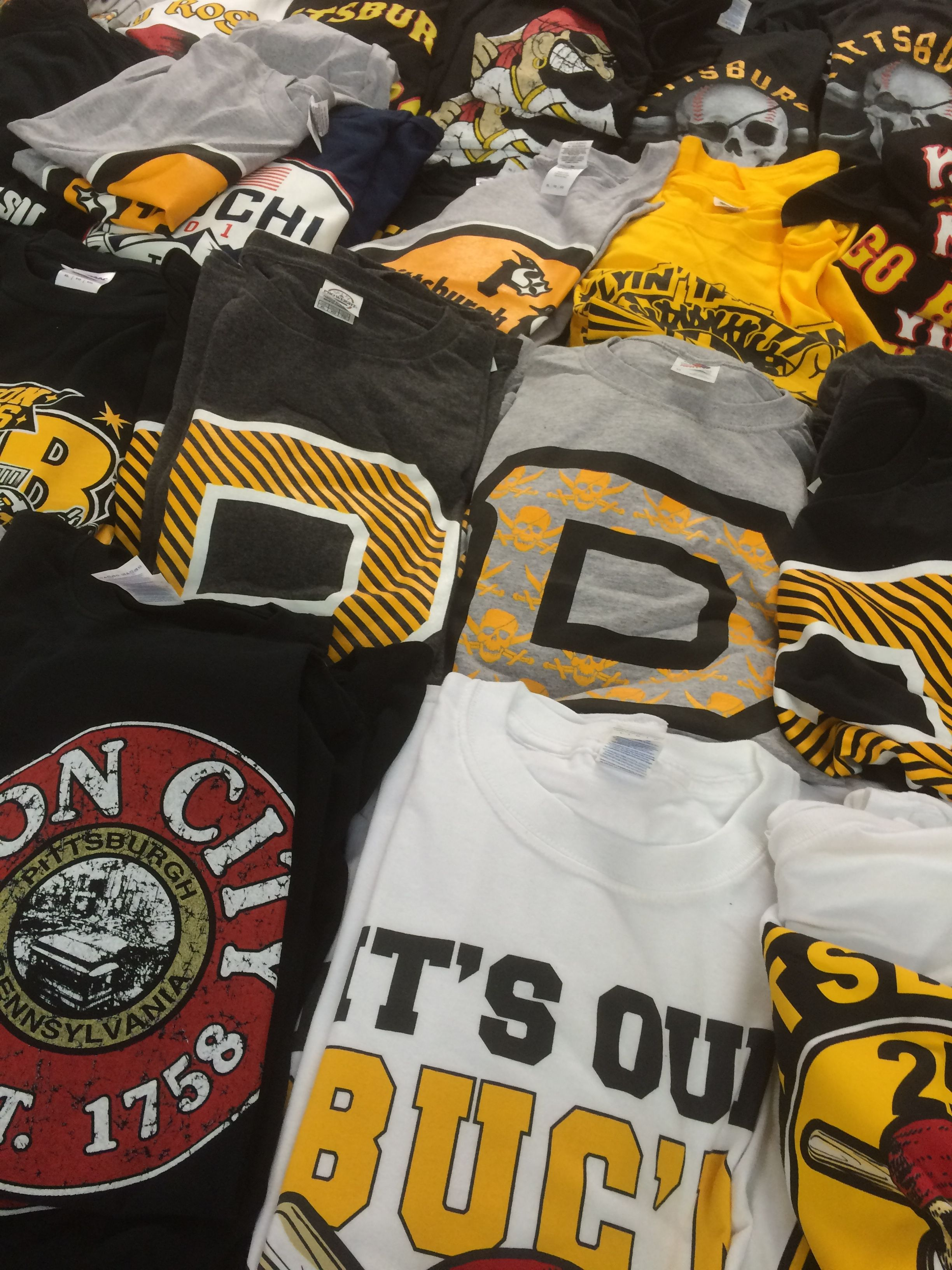 No shortage of sports merchandise in Pittsburgh's Strip District