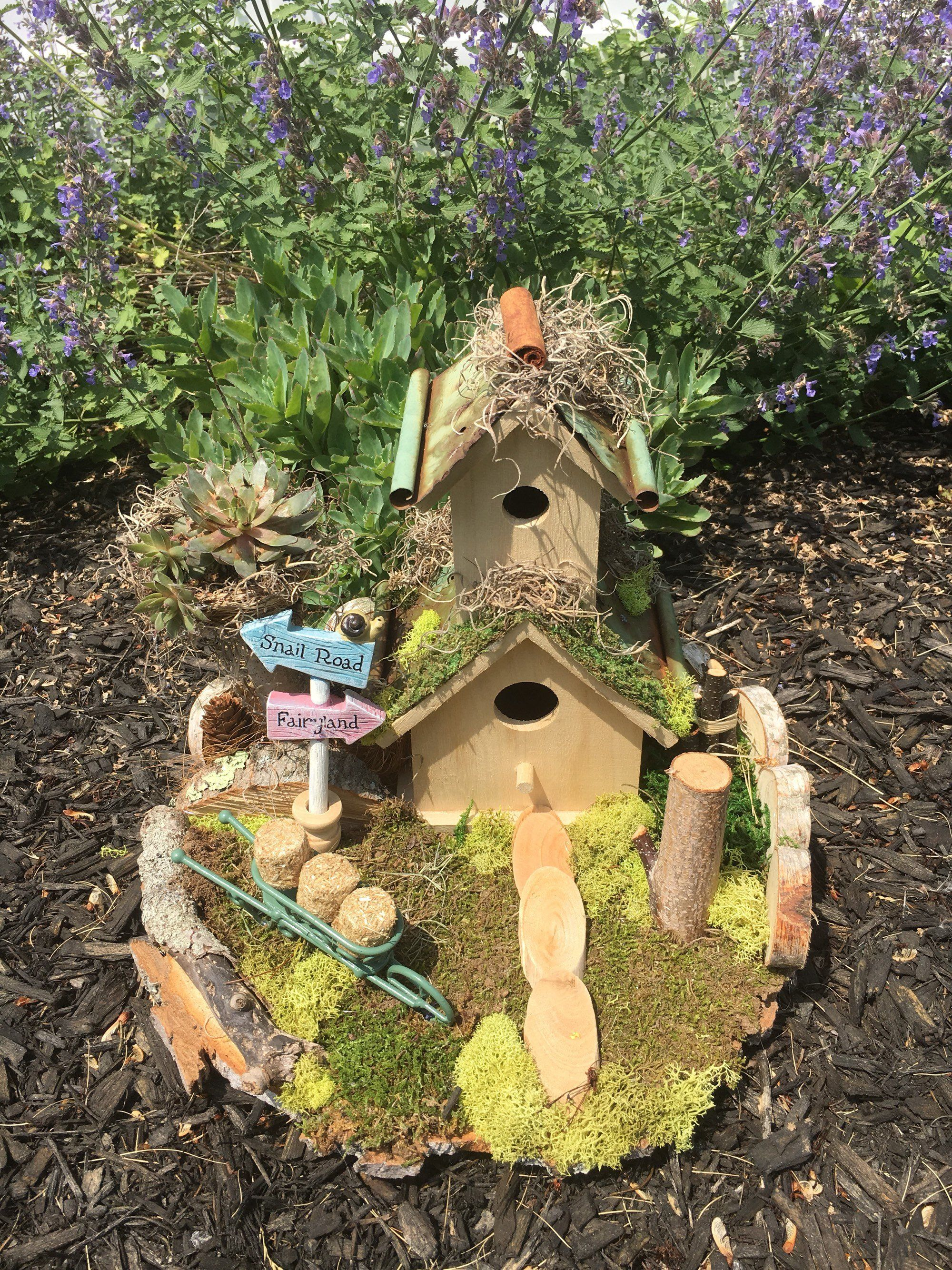 Natural Fairy Or Birdhouse Landscape Natural Garden Decoration