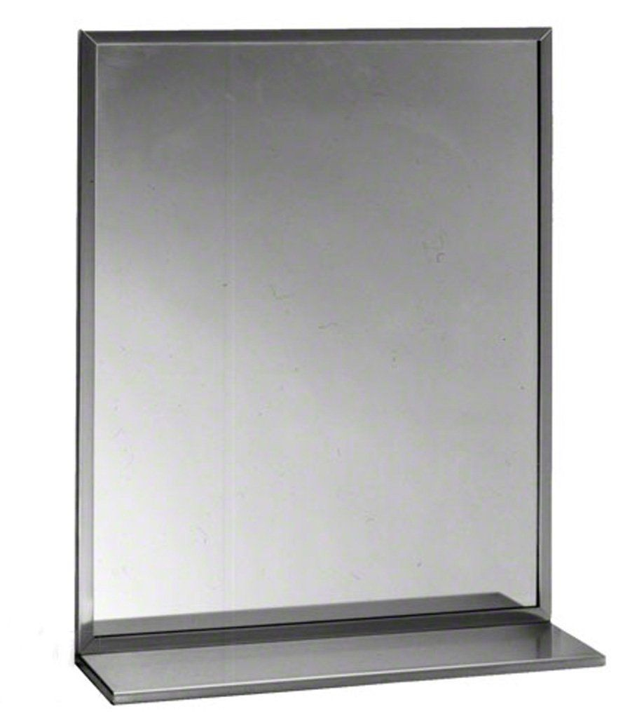 Bobrick 165 Series 430 Stainless Steel Channel Frame Glass Mirror ...