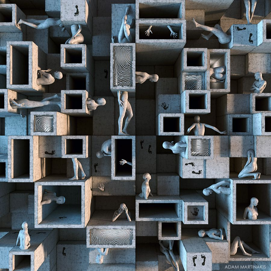 Adam Martinakis digital art: The fragmented identity