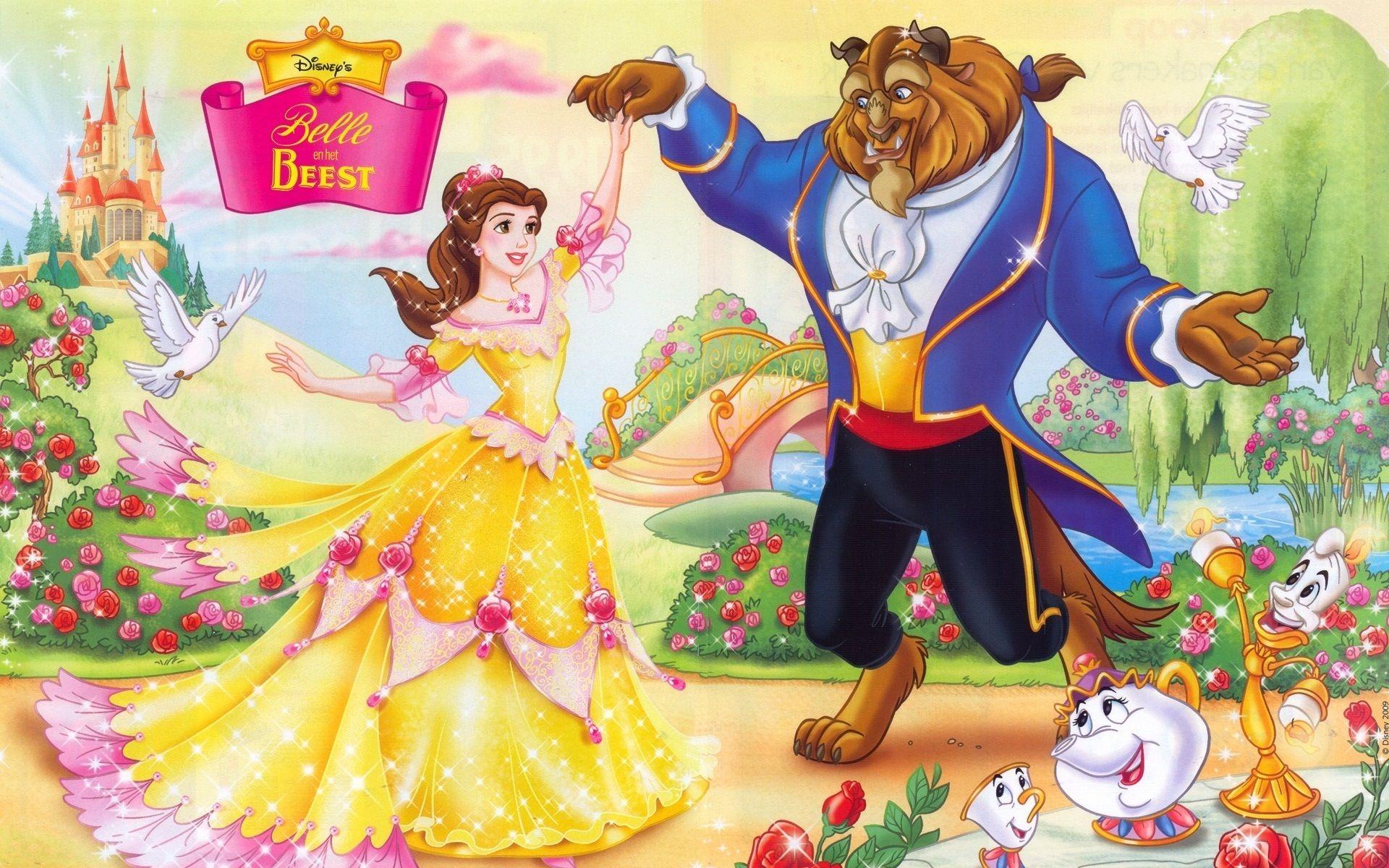 Beauty And The Beast Cartoon Wallpapers Disney Princess