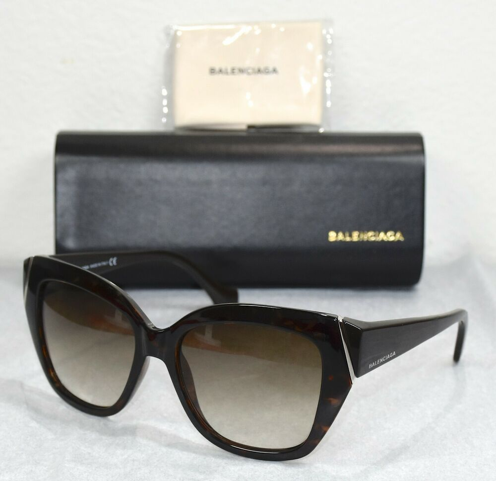 bb1acad7d7f47 NEW BALENCIAGA BA99 52P DARK TORTOISE BROWN GRADIENT CAT EYE SUNGLASSES.  57X17  Balenciaga  CatEye