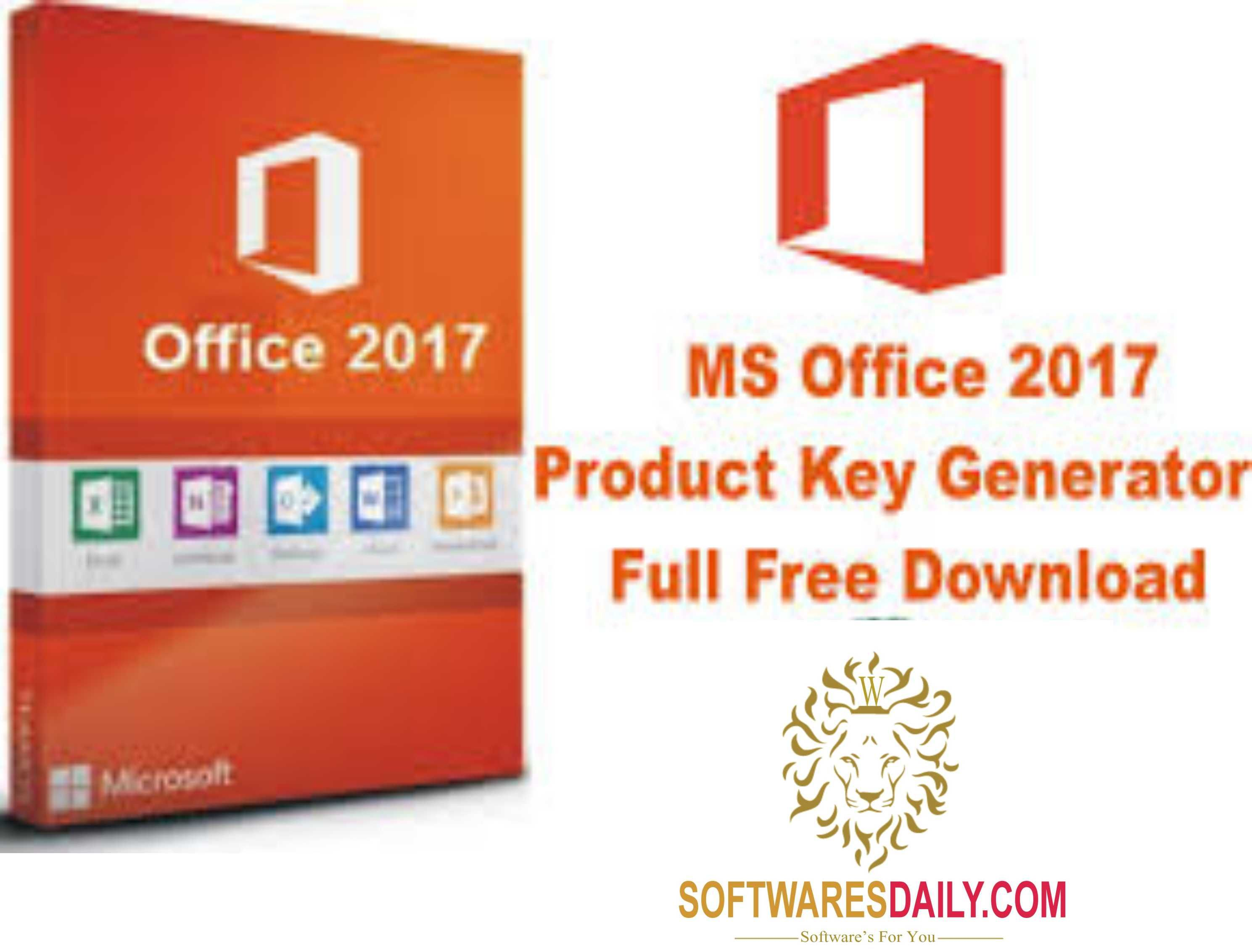 microsoft office 2017 product key free for you