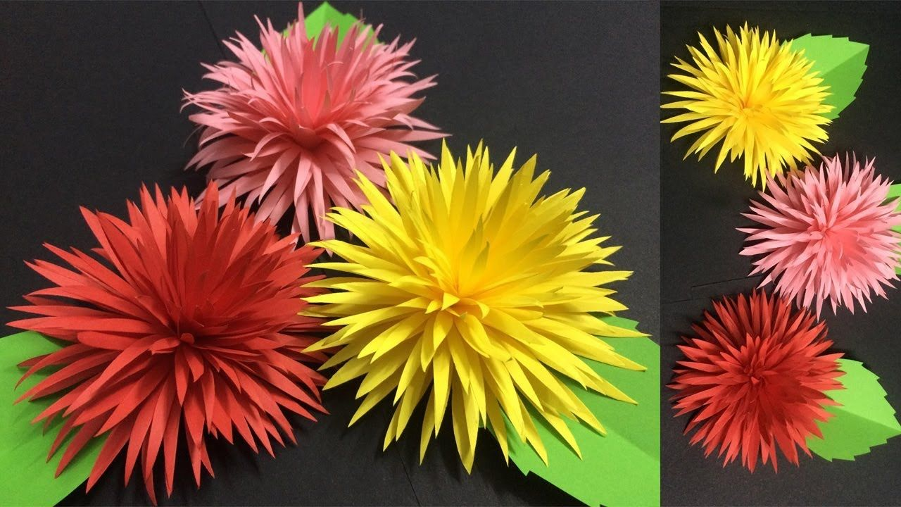 How to Make Beautiful Paper Flower | Making Paper Flowers | DIY ...