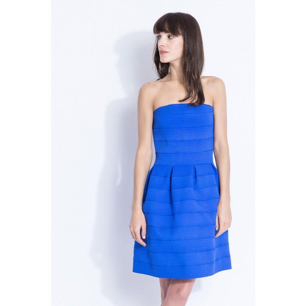 Sinequanone robe bleue noeud