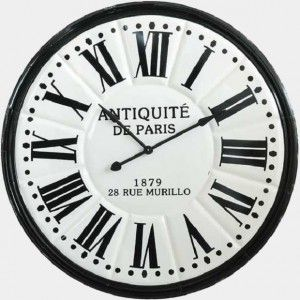 Round Embossed Antiquite De Paris Wall Clock Metal Wall Clock Large Wall Clock Modern Wall Clock