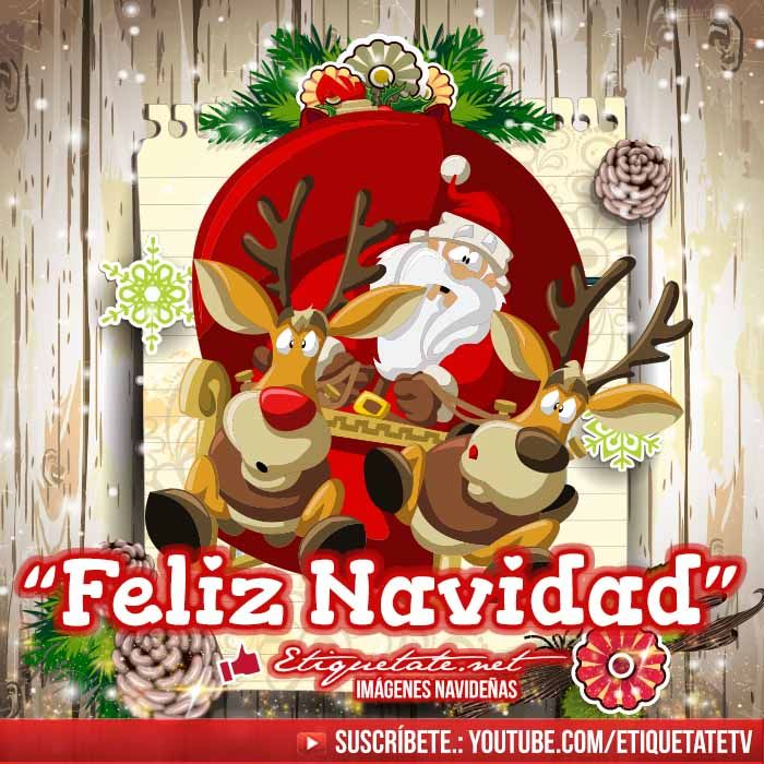 37 Imagenes de Santa Claus o Papa Noel que digan Feliz Navidad ...