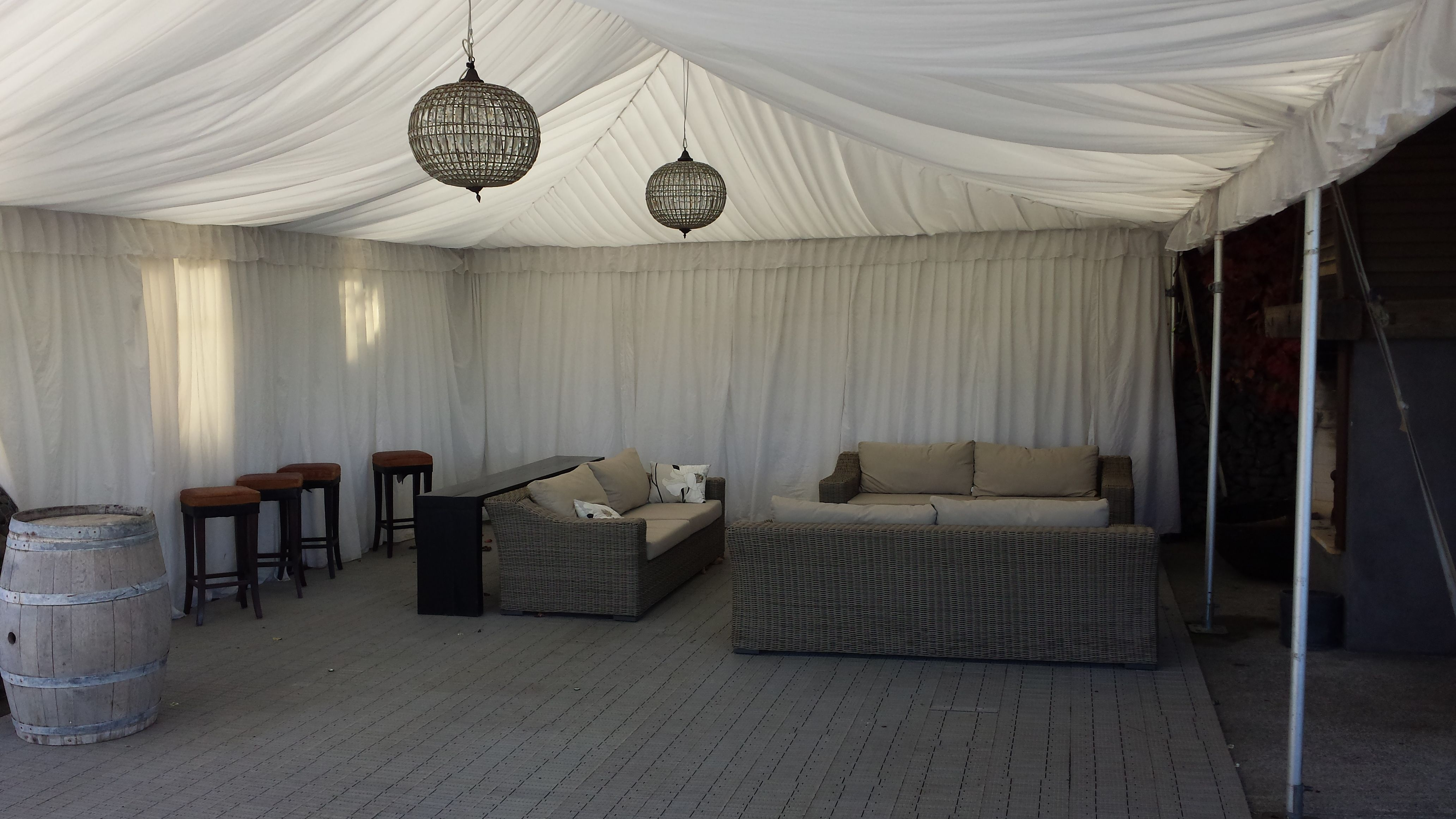 Marquee extension to the amazingly beautiful Black Barn ...