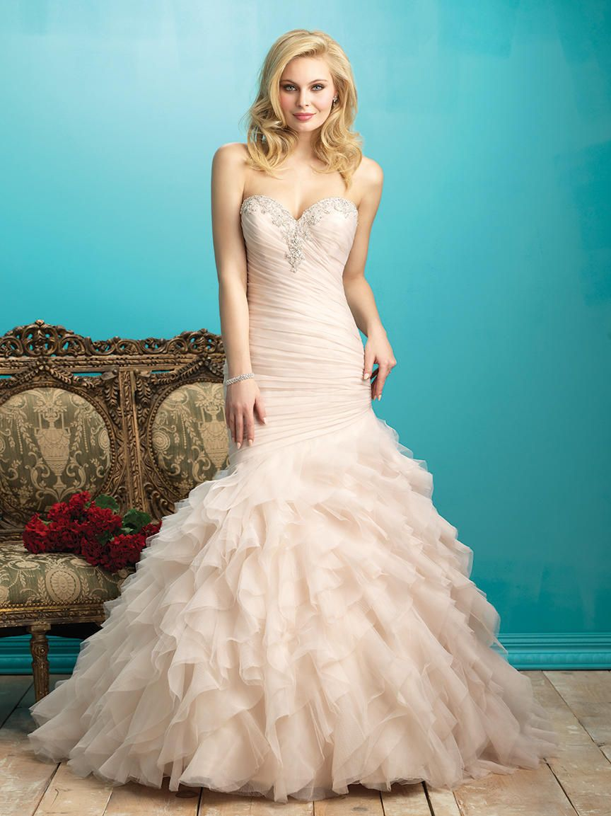 58cf28527778 Allure Bridals Style 9267: Layers of organza ruffles add lush volume ...