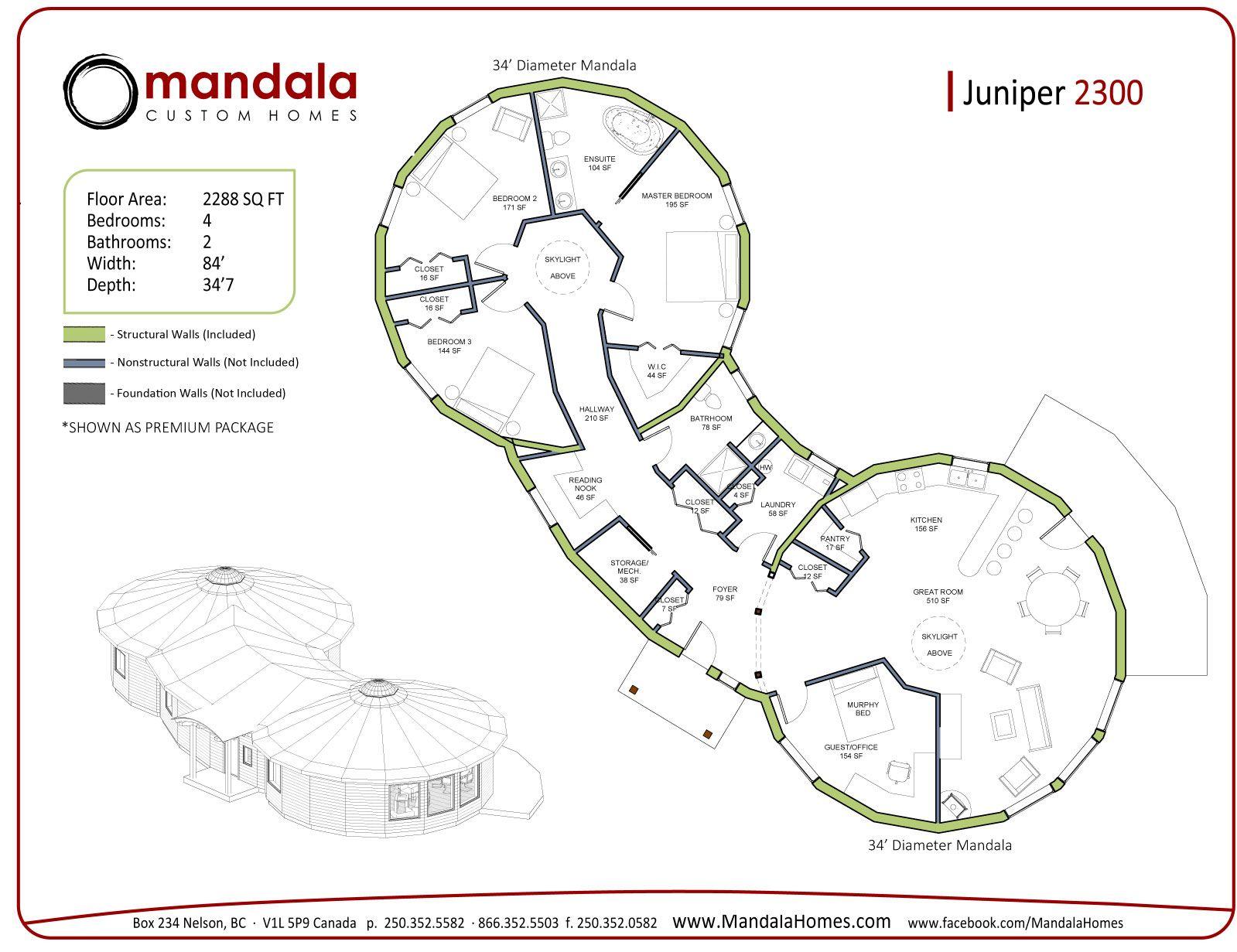 Round Homes Floor Plans: Floor Plan Juniper Series Floor Plans