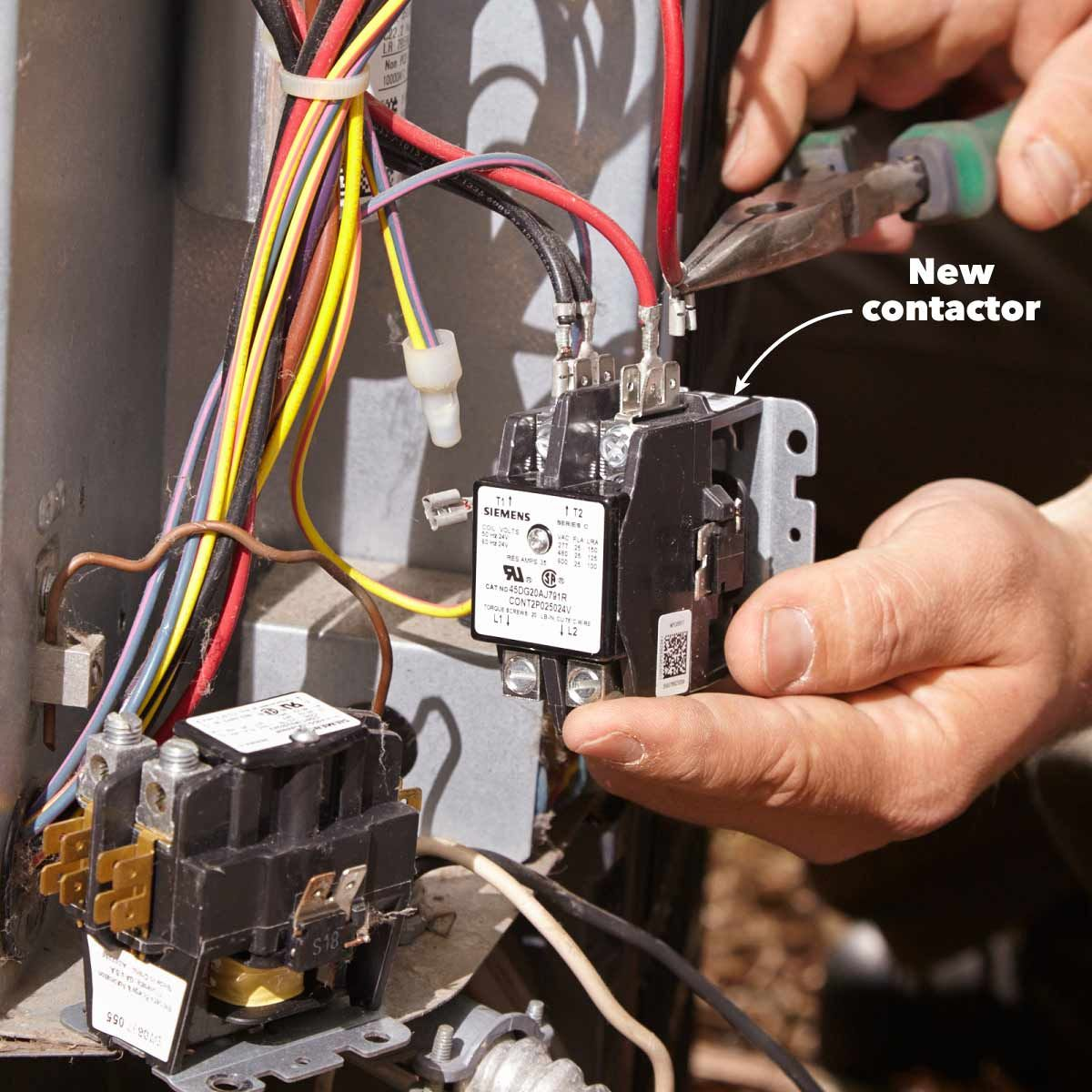 How to wire 3 phase air conditioner contactor problems