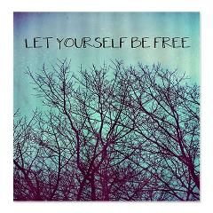 Let Yourself Be Free Shower Curtain By Erin Jordan