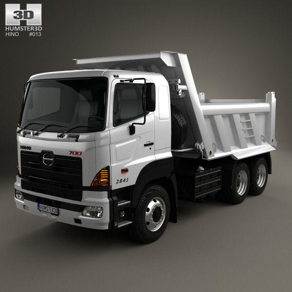 3d Model Of Hino 700 2841 Tipper Truck 2009 Tipper Truck