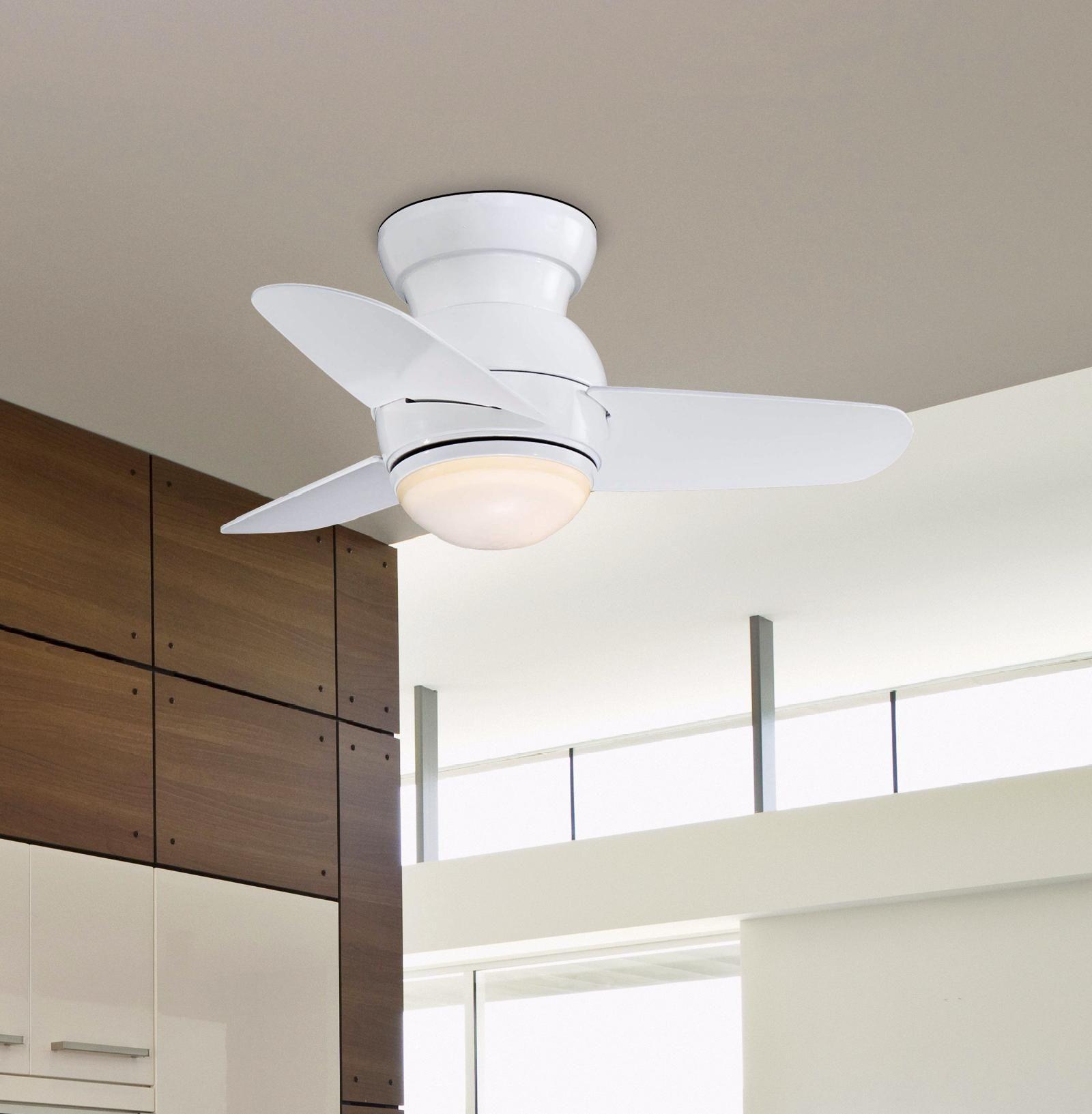 Minka Aire Spacesaver White Hugger Ceiling Fan