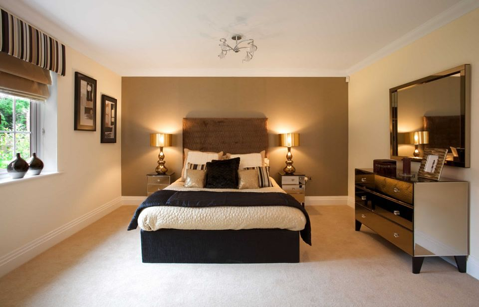 Bedroom, Cool Big Brown Headboards For Black Bed In White Bedroom ...
