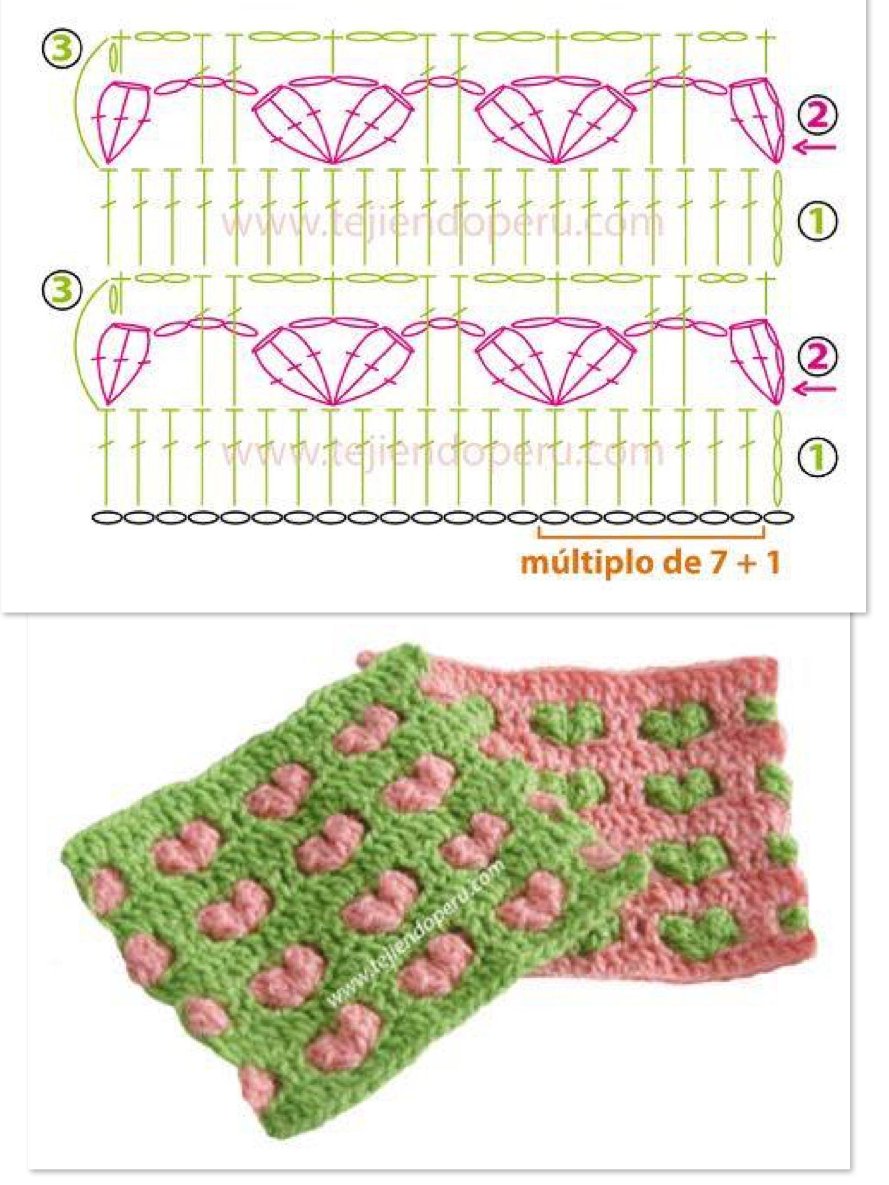Pin de Marisa en Crochet | Pinterest | Tejido y Puntos