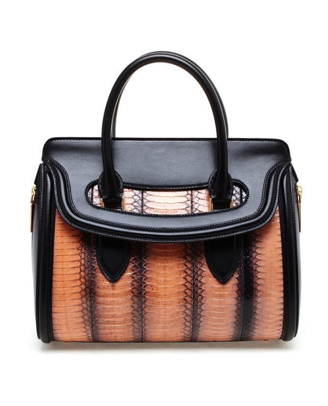 Alexander McQueen SS13 'Heroine' Python and Leather Handbag