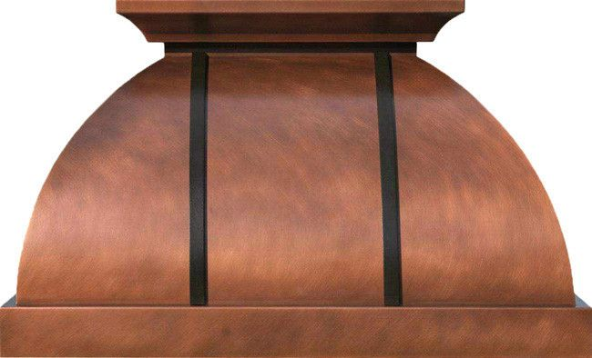 "Custom Copper Hood ""Alabama""       Copper oven hood in standard and custom made dimensions. It is hand crafted for wall mount and central island installation.  #mycustommade"