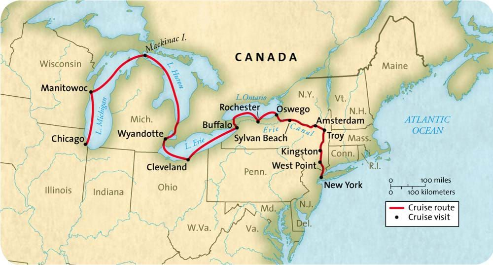 Great American Waterways Cruise Map 2018 Cruise Great Lakes