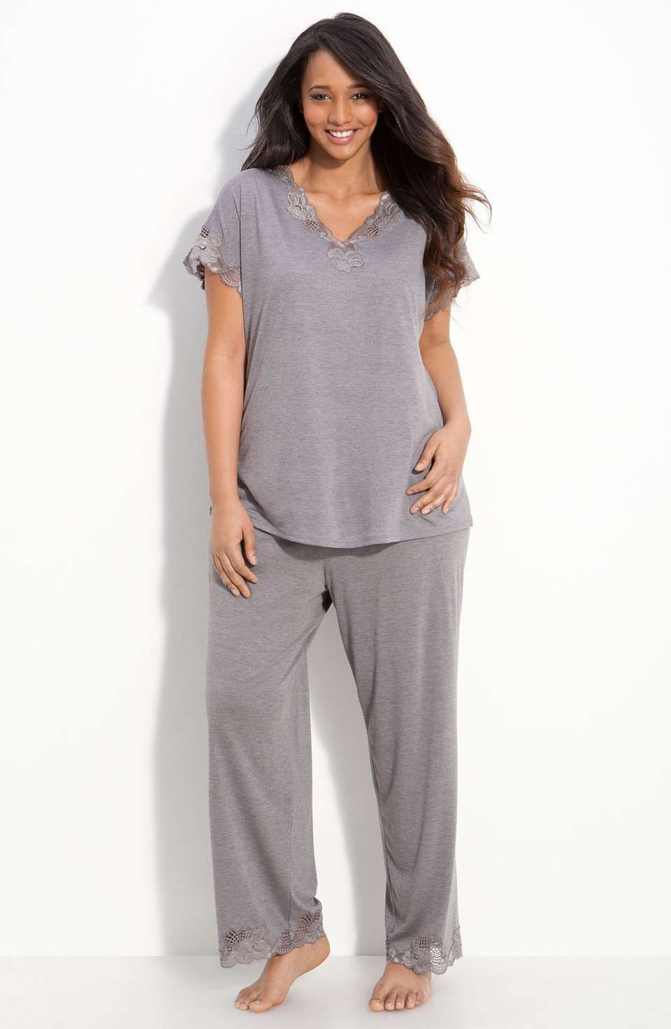 Natori Zen Floral Pajamas Plus Size Natori Plussize Pajamas Con Imagenes Ropa Ropa De Mujer Ropa De Dormir