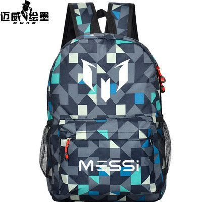 a9c2b37e93 2016 Lionel backpack students backpack youth schoolbag soccer football  messi backpack male  female computer bag Christmas gift