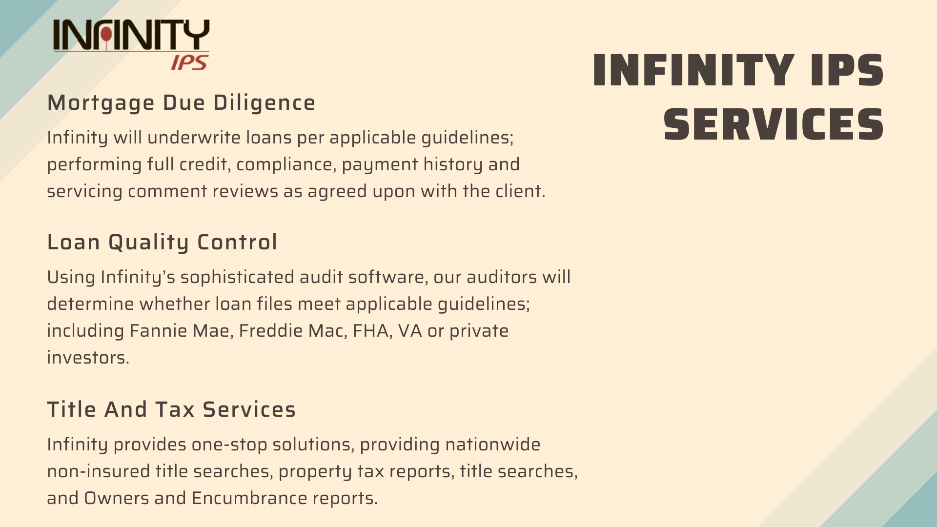 Mortgage Due Diligence Service In 2020 Underwriting Loan Income Producing