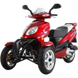 3-wheel scooter, MC_D50TKA, Sunny 50cc Three-Wheel Trike