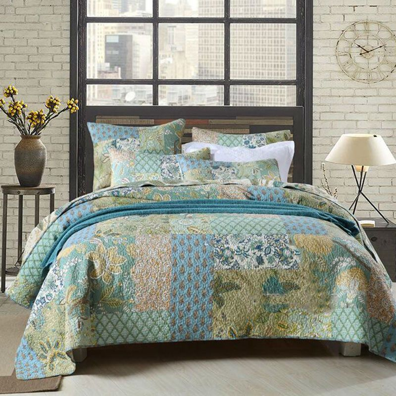 customizable patchwork bedspreads queen size vintage floral