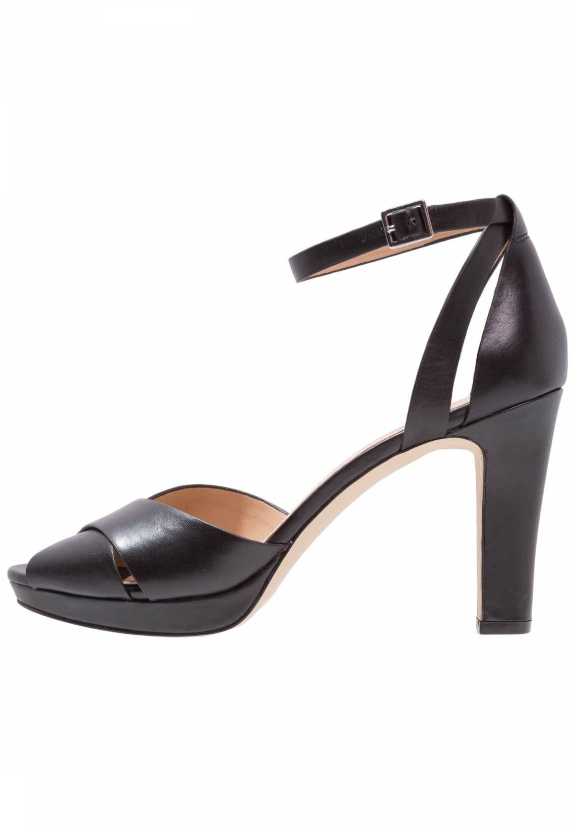 Pier One. High Heel Sandaletten black. Sohle:Kunststoff