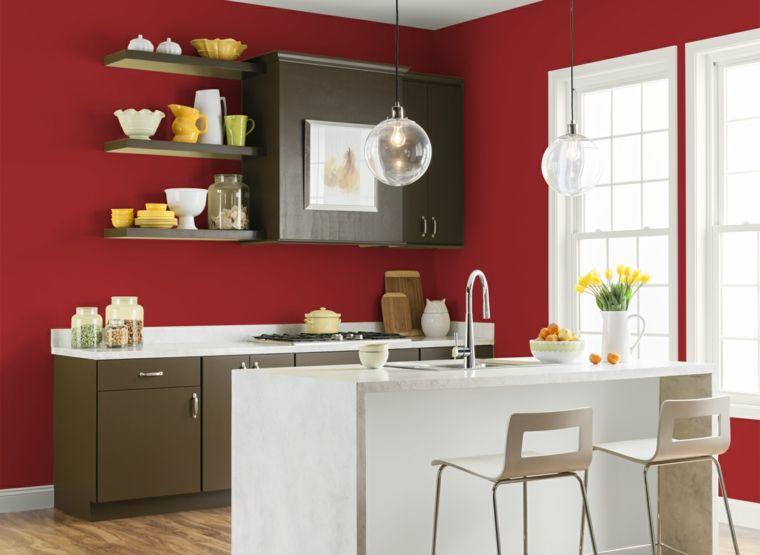 Cocinas En Rojo Treinta Y Ocho Disenos Ardientes Ideas Para - Colores-de-cocina