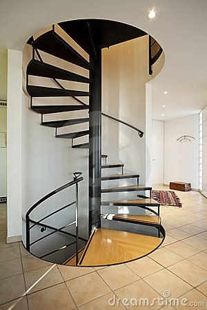 Modern House Spiral Staircase By Alexandre Zveiger Via