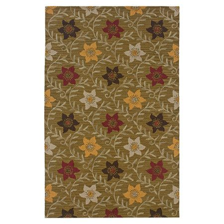 Handmade New Zealand wool-blend rug with a floral motif.  Product: RugConstruction Material: New Zealand wool-bl...