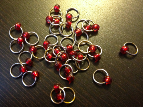 60/'s inspired stitch marker jump ring