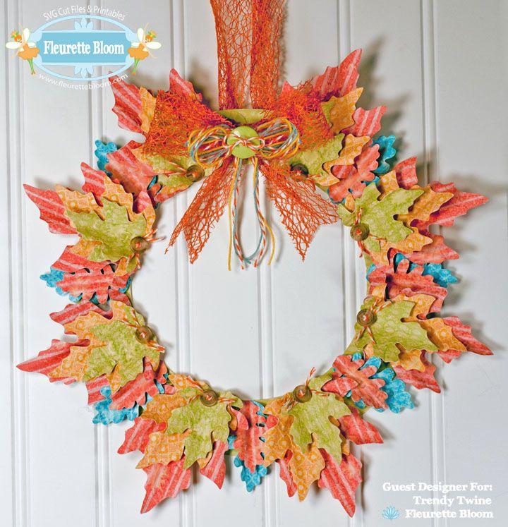 Fall Leaf Wreath SVG Project Kit Fall leaf wreaths, Fall