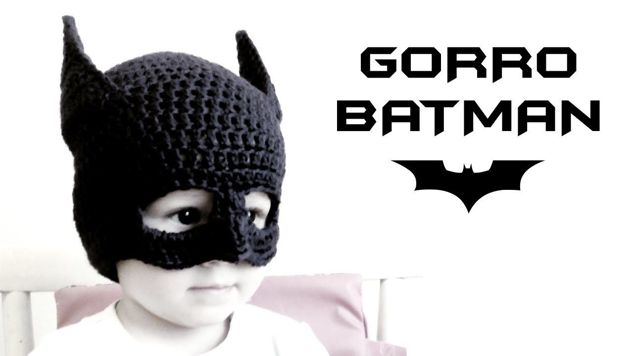 Gorro de BATMAN a Crochet (todas las tallas) | Bebe | Pinterest ...