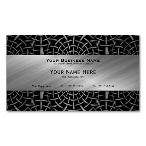 Wrought Iron And Brushed Metal Business Card Zazzle Com Metal Business Cards Brushed Metal Wrought Iron