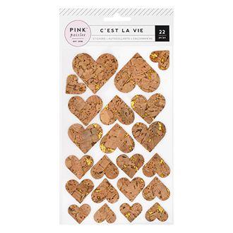 Cork Glitter Stickers