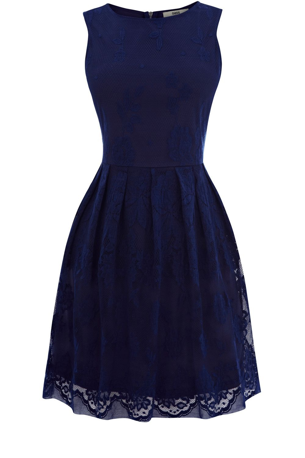 86691475ec0c Oasis Lace Cutaway Dress in Blue (dark blue) | Lyst | Pretty on the ...