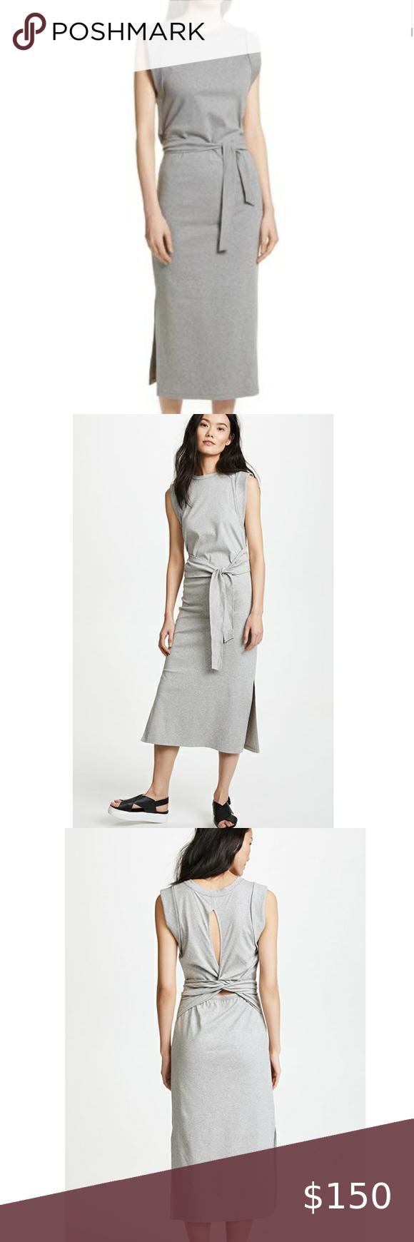 Vince Wrap Dress Striped Print Dresses Midi Dress Sleeveless Twist Front Dress [ 1740 x 580 Pixel ]