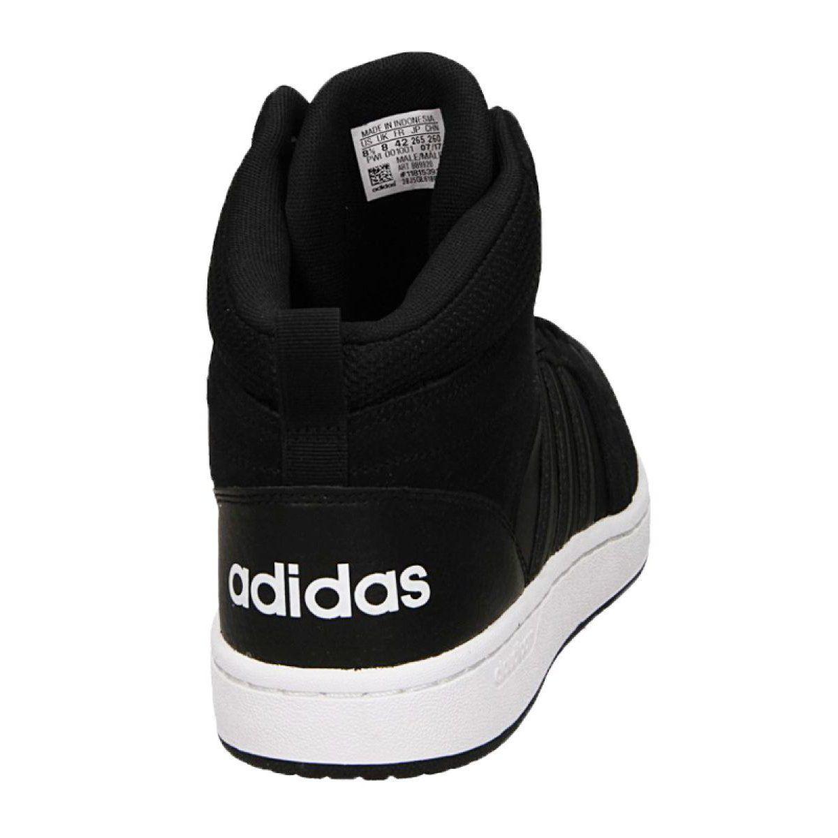 Adidas Cloudfoam Super Hoops Mid M Bb9920 Shoes Black Adidas Cloudfoam Black Shoes Sports Shoes Adidas